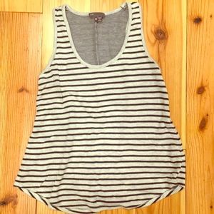 Vince. Grey and Navy striped tank top - like new!